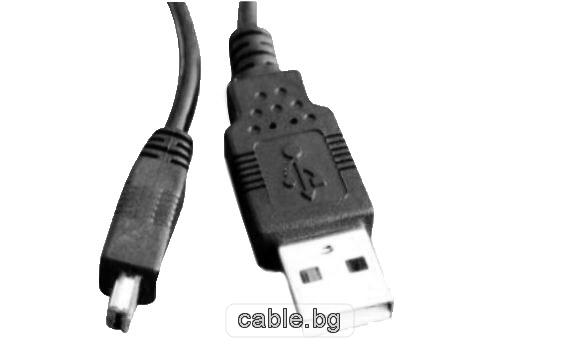 USB - Mini USB 4pin кабел, 1.8 метра
