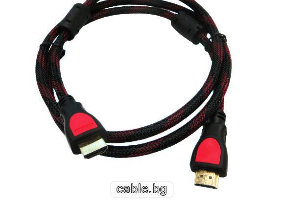 HDMI кабел, позлатен, с ферит, 1.5 метра