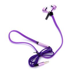 Слушалки ZIP METAL Violet, Handsfree, 3.5мм стерео жак с микрофон, лилави