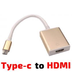 Кабел USB 3.1Type C конектор към HDMI 1080p 2K HDTV адаптер за Apple MacBook Chromebook