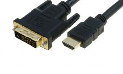 HDMI to DVI кабел за монитор, 2.5 метра