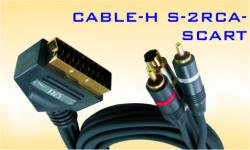 �����  CABLE-H S-2RCA-SCART
